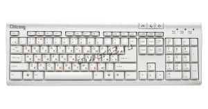 Клавиатура Chicony  KU-9810 PS/2 белая Купить