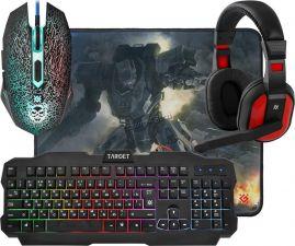 Набор игровой Defender Target MKP-350 (клавиатура +мышь  +коврик +наушники) Купить