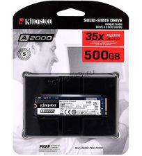 Твердотельный накопитель 500Gb SSD m.2 NVMe Kingston A2000, 2200/2000Мб/с PCI-Ex4 TLC 3D NAND Купить