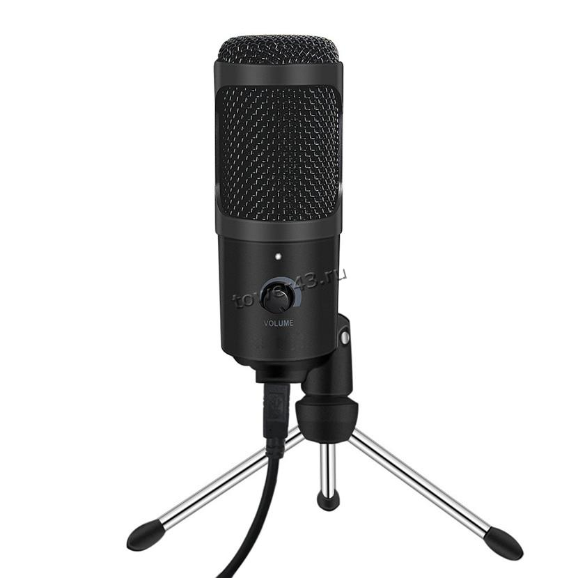 Микрофон HDSNH D80 конденсаторный, USB2.0, шнур 1.5м, тренога