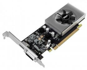 Видеокарта GeForce 1030GT 2Gb <PCI-E 3.0> Palit 64bit DDR4 HDMI, DVI-D Retail Купить