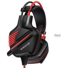 Наушники+Микрофон BOROFONE BO101 Racing игровые подсветка, с регулятором громкости,кабель 2м Купить