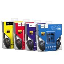 Наушники+микрофон HOCO W24 Enlighten накладные + внутриканальные наушники Цены