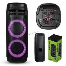 """Комбо-бокс колонка 2х6.5"""" PERFEO POWER BOX 30 USB /SD /FM /TWS /подсветка /беспр.микрофон Купить"""