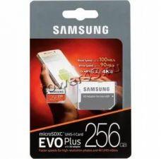 Память microSDXC 256Gb class10 Samsung EVO Plus, UHS-I U3 4К 100Mb/s с адаптером Retail Цена