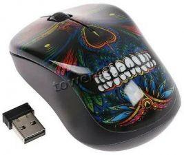 Мышь QUMO Office M41 Totem, 800/1200/1600dpi, беспроводная, 4 кнопки, waterprinting Цена