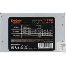 Блок питания EXEGATE 350W ATX-UNS350 12cm fan, 24+4pin, 3*SATA, 2*IDE, +12V 25A oem Цена