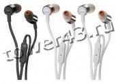 Наушники+микрофон JBL T210 Pure Bass, вакуумные, 16Ом, доп резинки, L-штекер -1.1м Купить