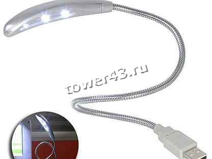 Светильник USB с 6 светодиодами, гибкая ножка