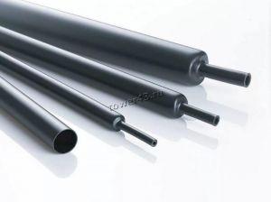 Трубка термоусадочная черная с клеем, 0,5м Купить