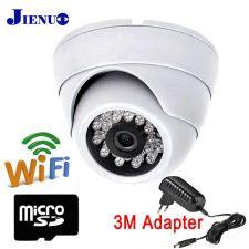 IP камера JIENUO WiFi, 1080р купольная, детект.движ, двух.голос.связь, ночн видение, microSD Купить