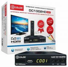 Цифровой ТВ-ресивер DVB-T2 D-Color DC1002 mini HDMI, USB, кнопки, дисплей Купить
