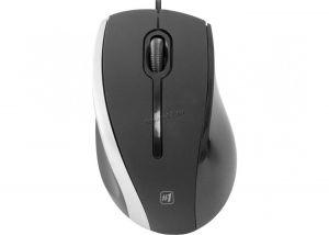 Мышь Defender StreetArt MM-340 1000 DPI оптическая USB 3 кнопки чёрный с синей вставкой, 1.35м Купить