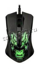 Мышь QUMO Rampage M49, 6кн. игровая, 7цв.подсветка, 1200 /1600 /2400 /3200dpi, USB Купить