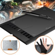 """Графический планшет Ugee M708 для рисования 11.5"""" +перчатка и зап. наконечники, черный Цена"""