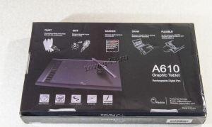 """Графический планшет Ugee M708 для рисования 11.5"""" +перчатка и зап. наконечники, черный Цены"""