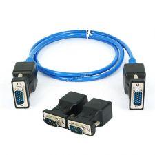 Адаптеры SVGA-RJ45 для передачи видеосигнала до 20м по сетевому кабелю RJ-45 (1 пара) Купить