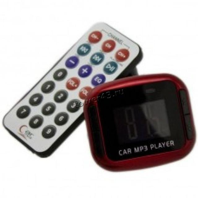FM-модулятор в прикуриватель, слот карты SD, USB, microSD +пульт ДУ в подарок
