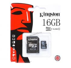 Память micro SDHC 16Gb Class10 Kingston UHS-I 80м/c Retail Купить
