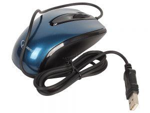 Мышь Gembird MOP-405-B, USB, синяя, объемный цвет, бесшум клик, 3кн, 1000DPI, каб 1.45м, блистер Купить
