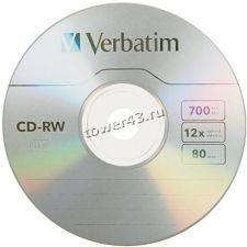 Диск CD-RW Verbatim 700Mb 8-12x Slim BOX Купить