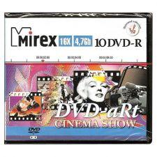 Диск DVD-R 16x 4.7Gb Mirex 10дисков с индивдуальными рисунками в пластиковом партмоне Купить