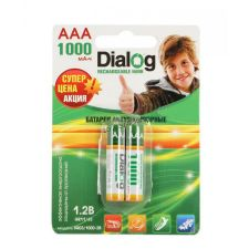 Аккумуляторы LR3/ААА Perfeo/Dialog, 1.2V, 1000mAh - 2 шт Купить