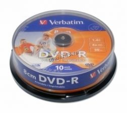 Диск мини DVD-R 4x 1.4Gb Verbatim Printable Купить