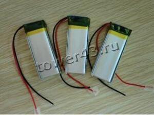 Аккумулятор 3.7V, 55mAh, [26х9х3.5мм