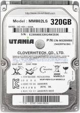 """Жесткий диск 320Gb UTANIA MM702LS/MM802LS 2.5"""" 8Mb 5400prm SATA3 9мм Купить"""
