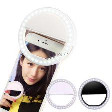 Светодиодное селфи кольцо для смартфона с аккумулятором Купить