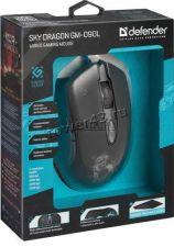 Мышь Defender SkyDragon GM-090L подсветка цв 6кн. (игровая) (чёрный) +коврик Цена