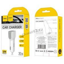 Автомобильное зарядное устройство 2 выхода USB (2.4A) HOCO Z23 /Alisson ALS606/702 Цена