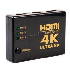 Переключатель HDMI сигнала 3 входа -> 1 выход, макс разр. 4Кх2К, стандарт 1.4В, интеллект. выбор Купить
