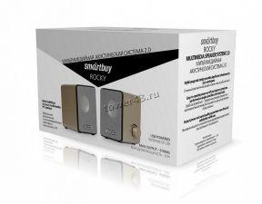 Колонки SmartBuy ROCKY (6W) пластик (серый/золото) SBA-3200, питание от USB Цены
