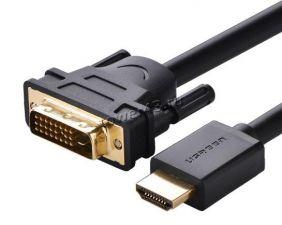 Кабель для монитора HDMI (19pin) -> DVI, вер1.4, 30AWG, 1.8/2м, позолоченные контакты Купить