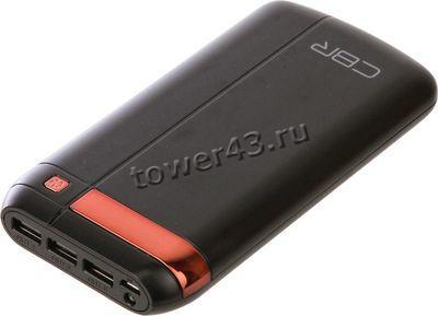 Внешний мобильный аккумулятор CBR CBP-4160 Black, 16000mAh, Output DC 5V/1A, 5V/2,1A, 5V/2,1A фонар.