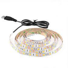 Светодиодная лента 4м (240хLED3528) желтый свет, питание от USB Купить