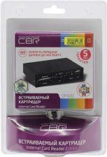Картридер GINZZU GR-116B внутренний black (стандартные слоты +microSDHC +USB2.0) USB2.0 Retail Цена