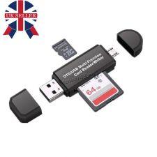 Картридер для microSD/SD с интерфейсами для USB2.0 (для ПК) и microSD (для смартфона) Цена