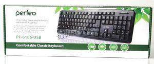 Клавиатура PERFEO CLASSIC, USB, проводная, цвет черный Цена