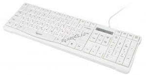 Клавиатура Gembird KB-8352U USB белая (латиица - черная, русские - красные) 105 клавиш Купить