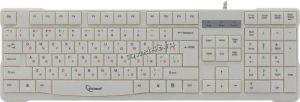Клавиатура Gembird KB-8352U USB белая (латиица - черная, русские - красные) 105 клавиш Цена