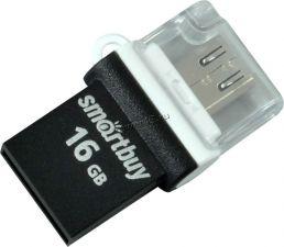 Переносной носитель 16Gb FLASH USB2.0 +OTG (microSD/Type-C) Цена