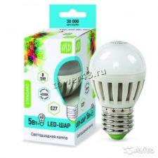 Лампа светодиодная (LED) ASD Standаrt ШАР 5Вт, 4000К, E27, 400лм Retail Купить