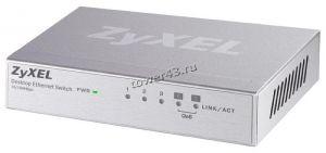 Коммутатор ZyXEL ES-105A_V2 5-портовый Fast Ethernet с двумя приоритетными портами Retail Купить