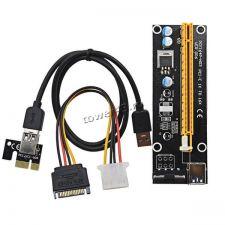 Райзер (для любых видеокарт на PCE-E), 60см, USB3.0, PCI-Ex1 -> PCI-Ex16 +доп.питание Купить