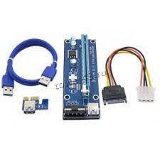 Райзер (для любых видеокарт на PCE-E), 60см, USB3.0, PCI-Ex1 -> PCI-Ex16 +доп.питание Цена