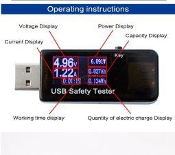 Контроллер USB Safety Tester (дисплей, контроль напряжения, тока зарядки и накопленной емкости) Цены