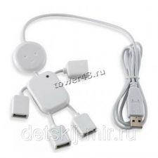 Контроллер внешний USB-HUB 4-портовый USB2.0 (человек) Купить